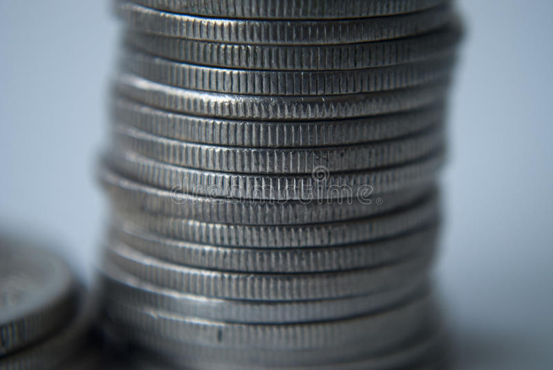 Stack of coins. Close up of a stack of Australian coins royalty free stock photography
