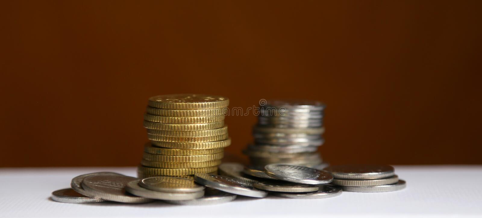 Stack of coins - finance and saving concept stock image