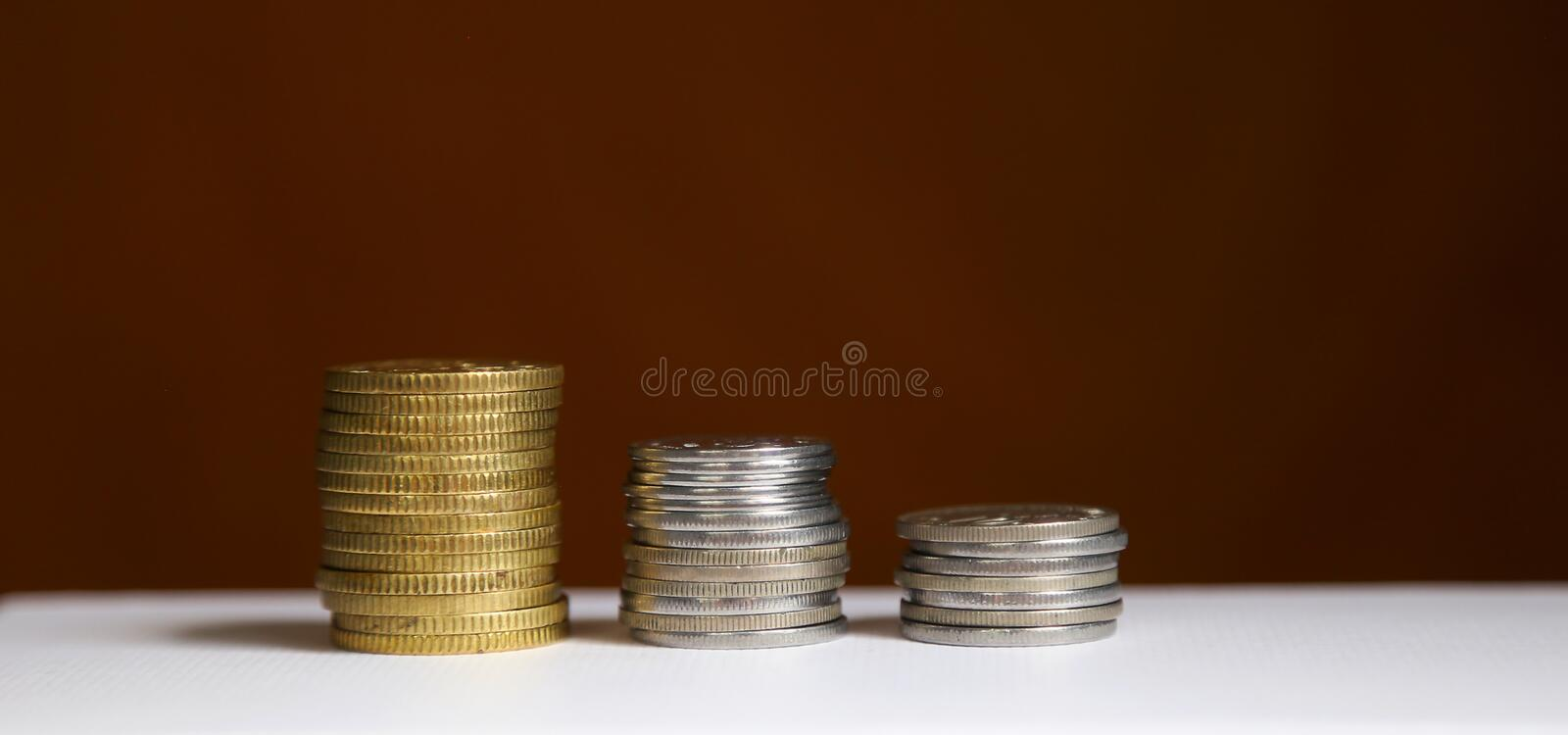 Stack of coins - finance and saving concept stock photography