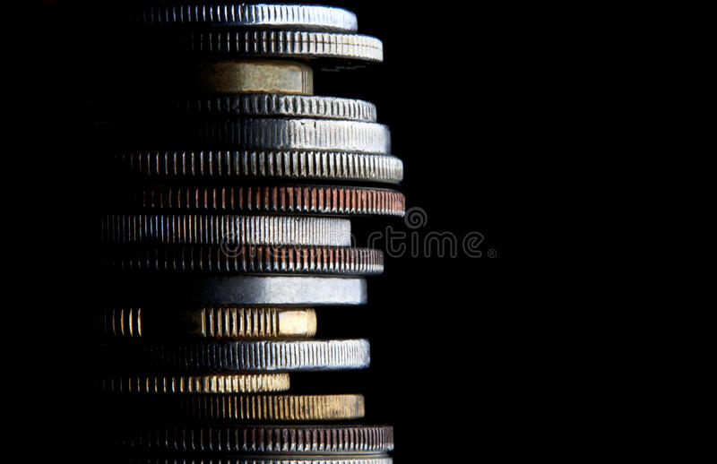 Stack Coins Money Business Background stock images