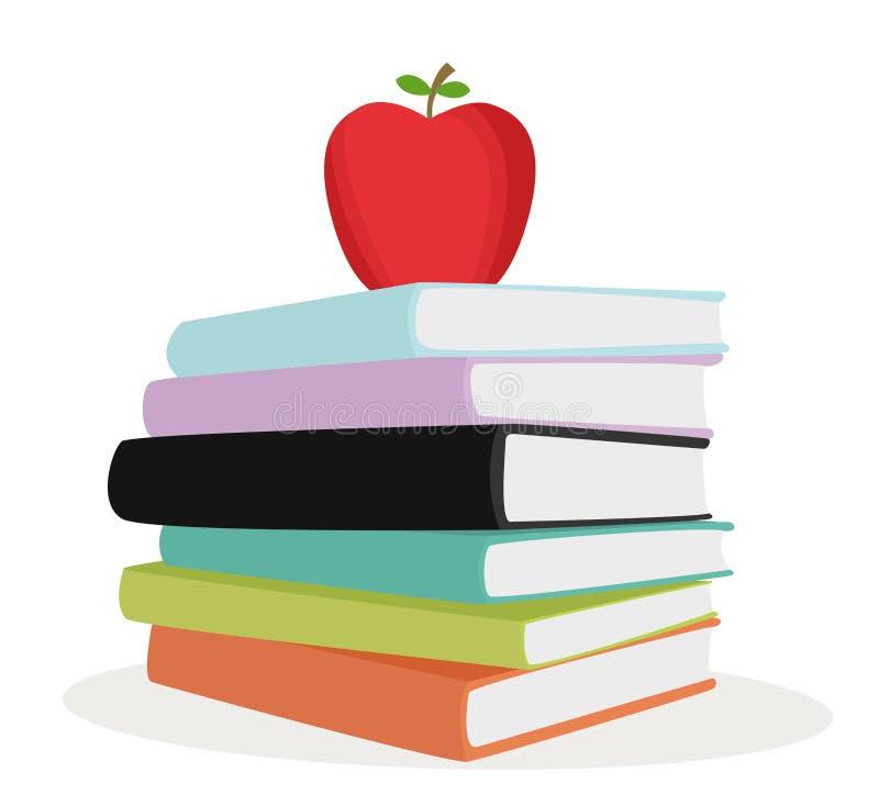 Stack color books royalty free illustration