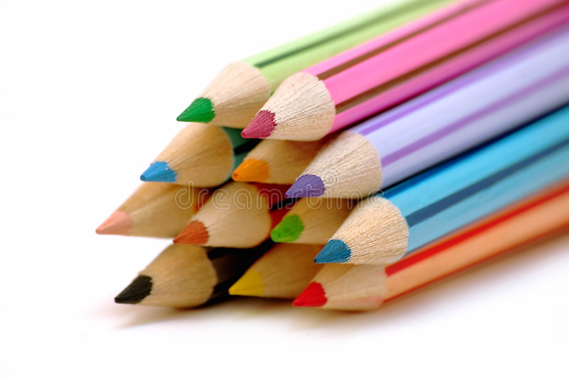 Download Stack of color pencils stock photo. Image of educate, artist - 193726