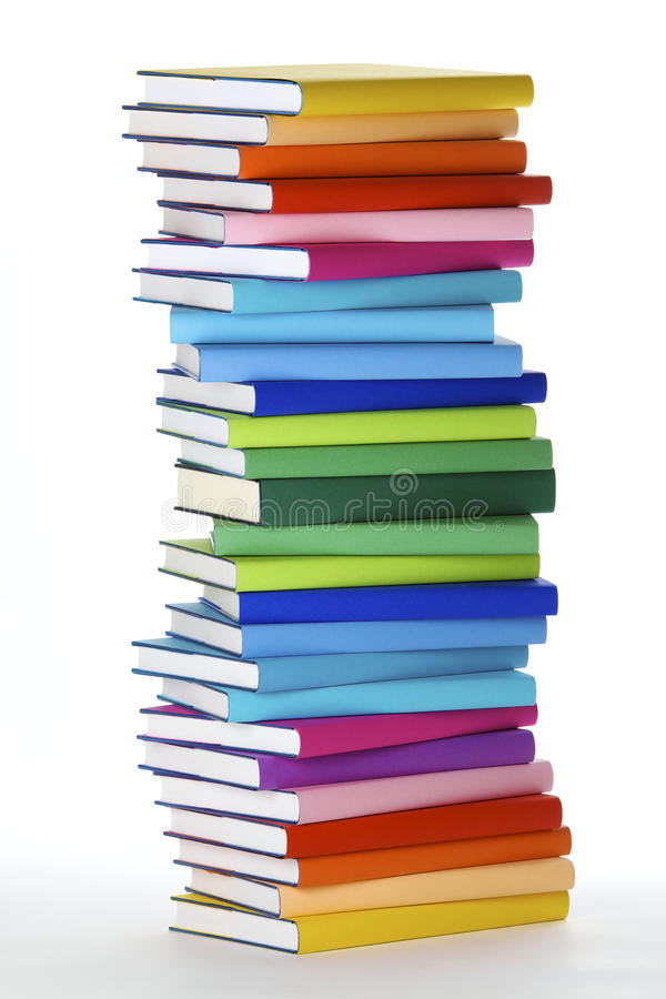 Stack of colorful books stock image. Image of color, cyan - 13872065