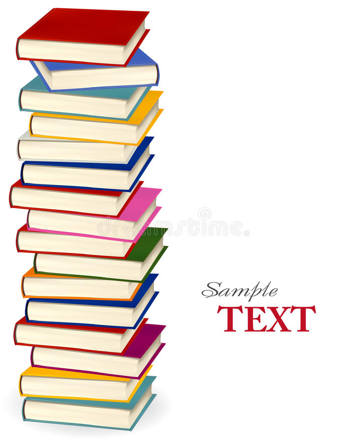 Stack of colorful books. royalty free illustration