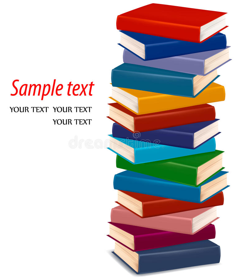 Download Stack Of Colorful Books. Vector Stock Vector - Image: 21746295