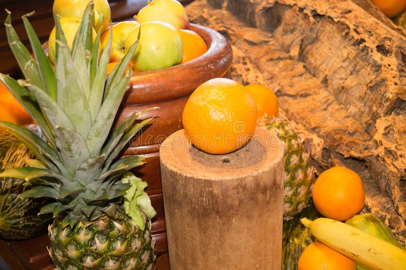 Fruits on a market royalty free stock images