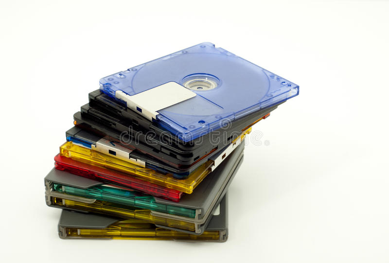 Download Stack Of Colorful Minidiscs Stock Photography - Image: 16174932