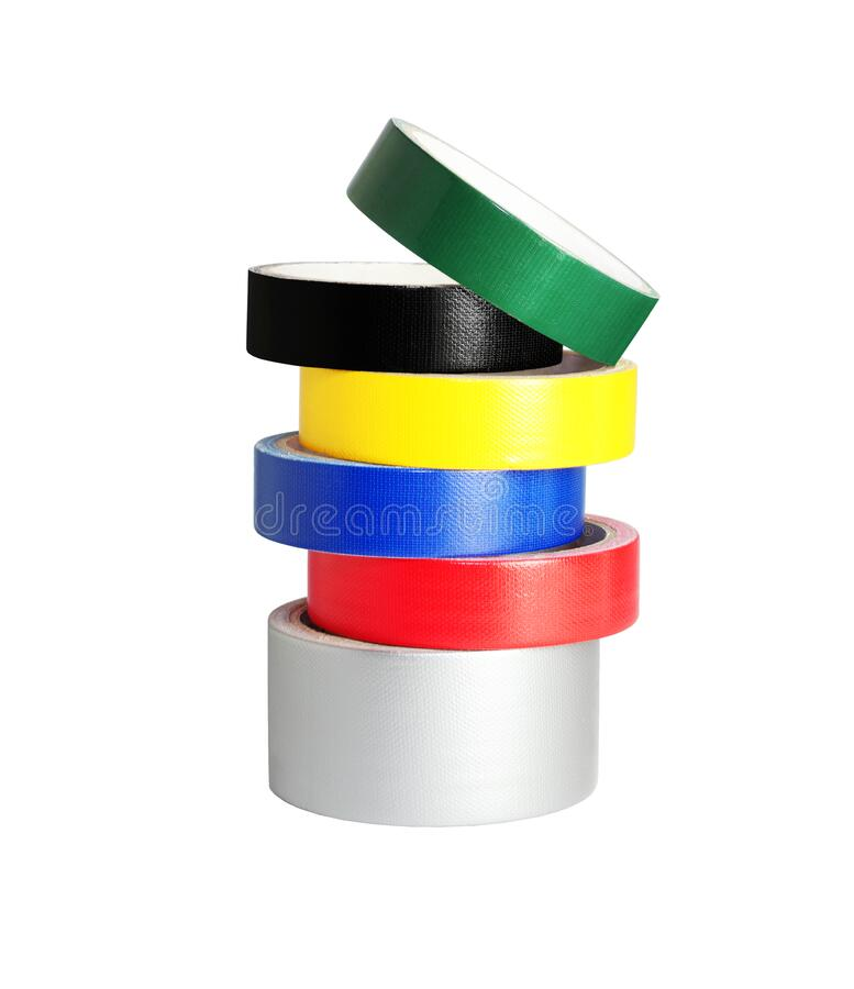 Stack of Colour Duck Tapes royalty free stock photo