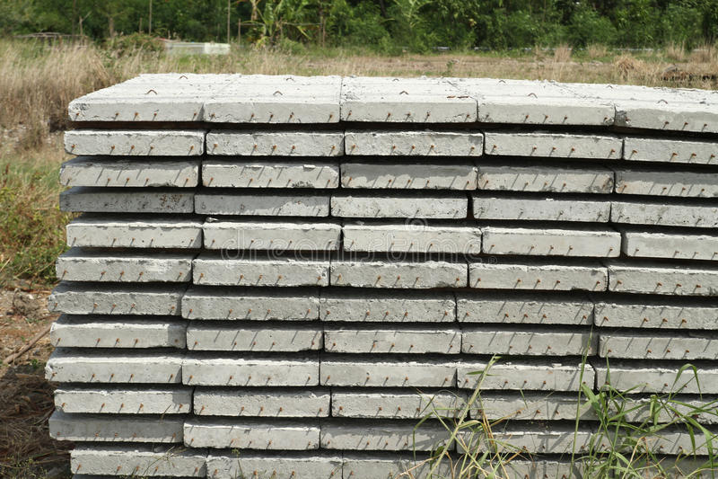 Concrete building slab stock photo
