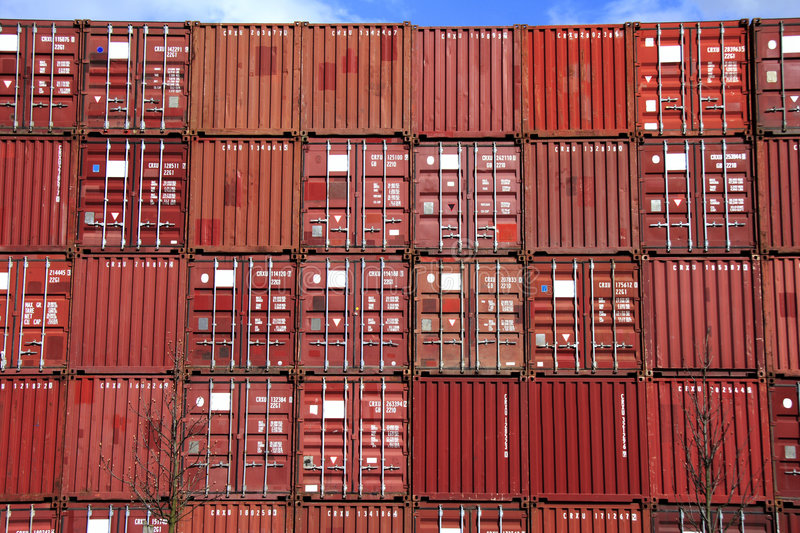 Download Stack of container stock image. Image of iron, harbor, import - 693401