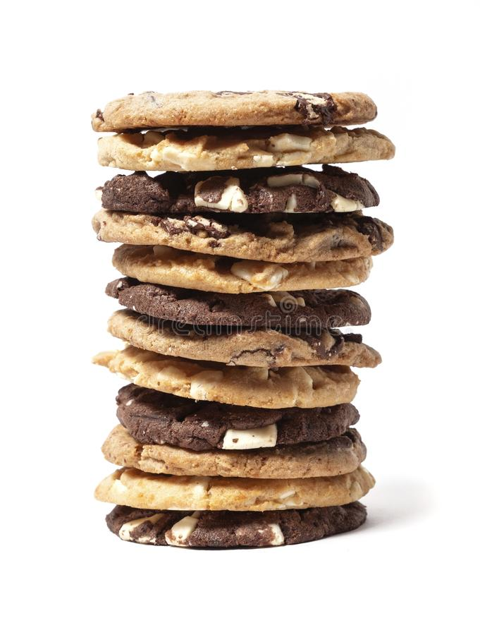 Stack of cookies stock photography