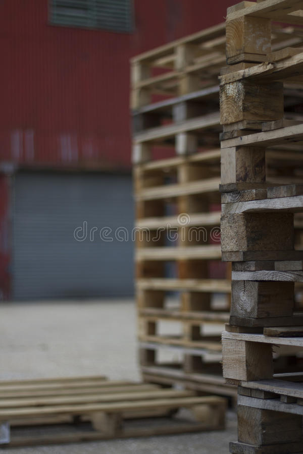 Stack of crates stock images