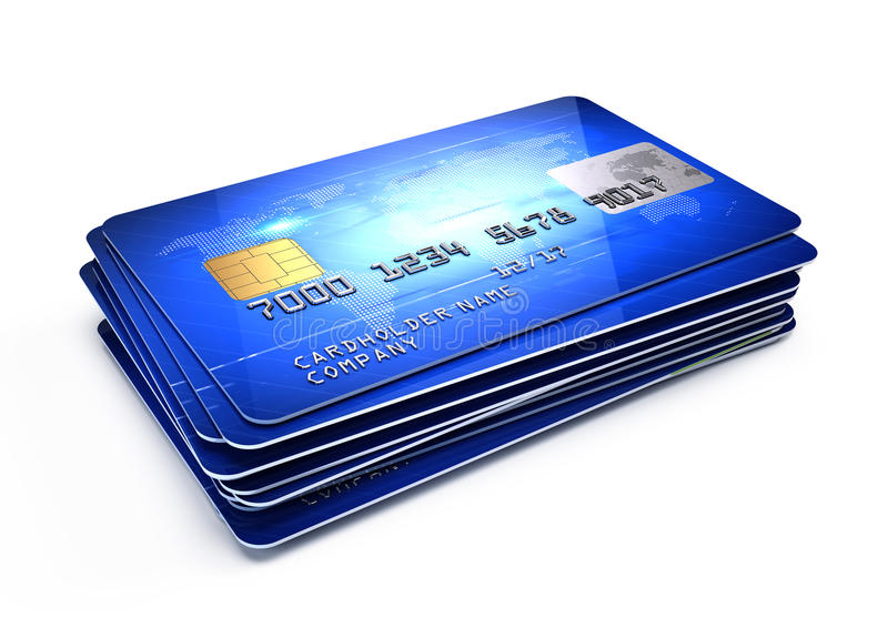 Stack of Credit Cards royalty free illustration