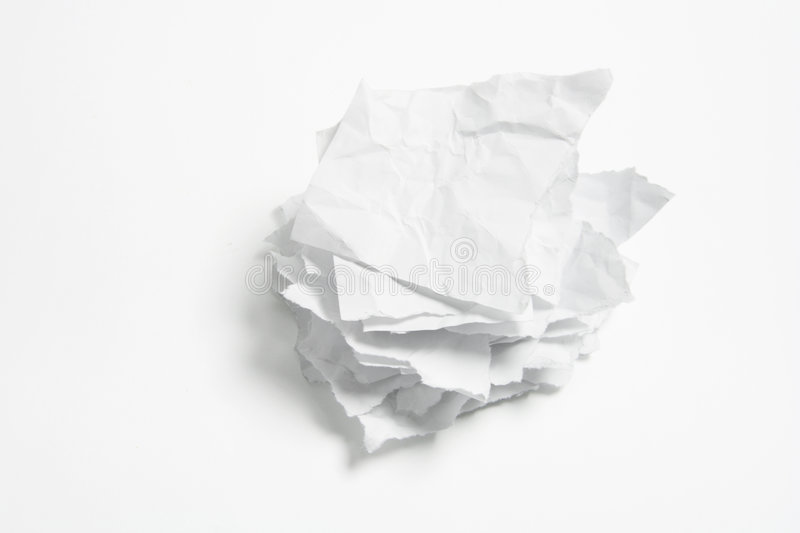 Download Stack of Crumpled Papers stock image. Image of stack, blank - 9246651