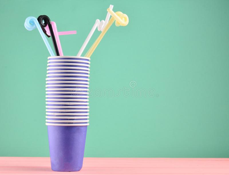 Stack cup whith tubes royalty free stock photo