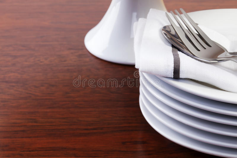Stack of Dessert Plates royalty free stock photography