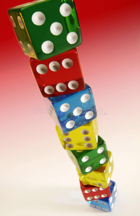 Stack of Dice royalty free stock photos