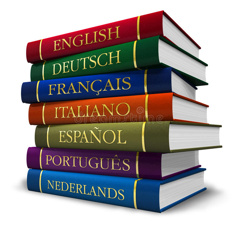 Stack of dictionaries royalty free stock photos