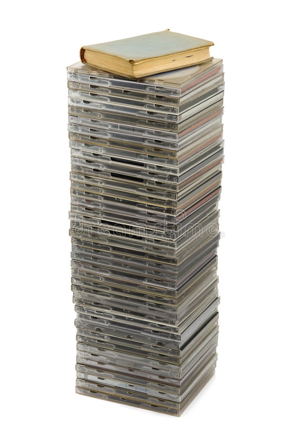Download Stack of disks and book stock image. Image of isolated - 4594385