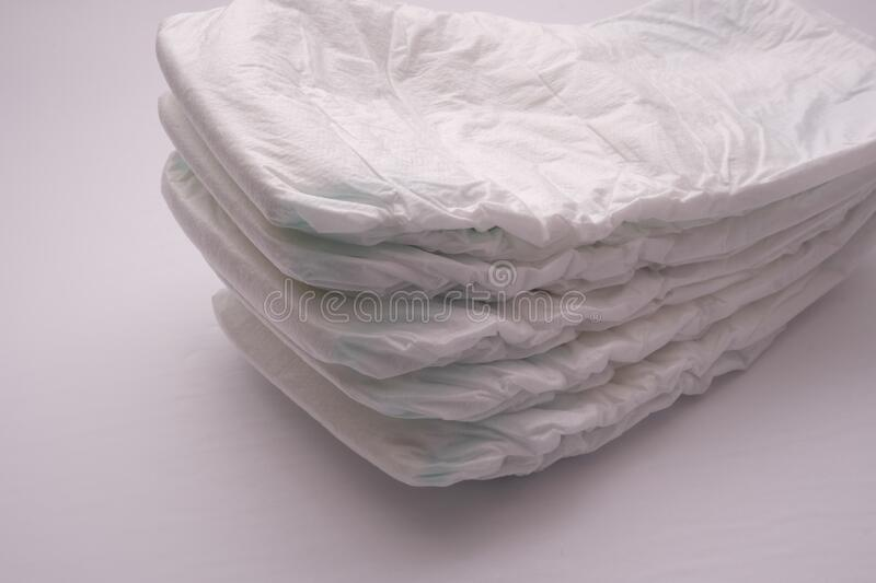 A Stack of Disposable Diapers stock photography