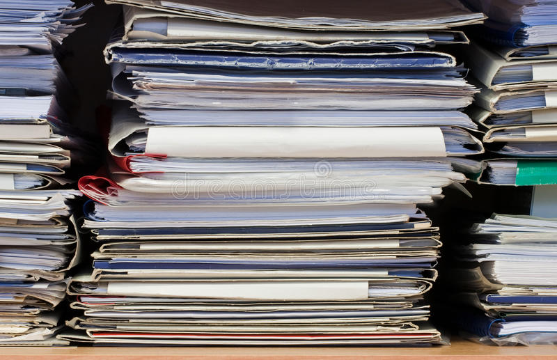 Stack of document and papers royalty free stock photo