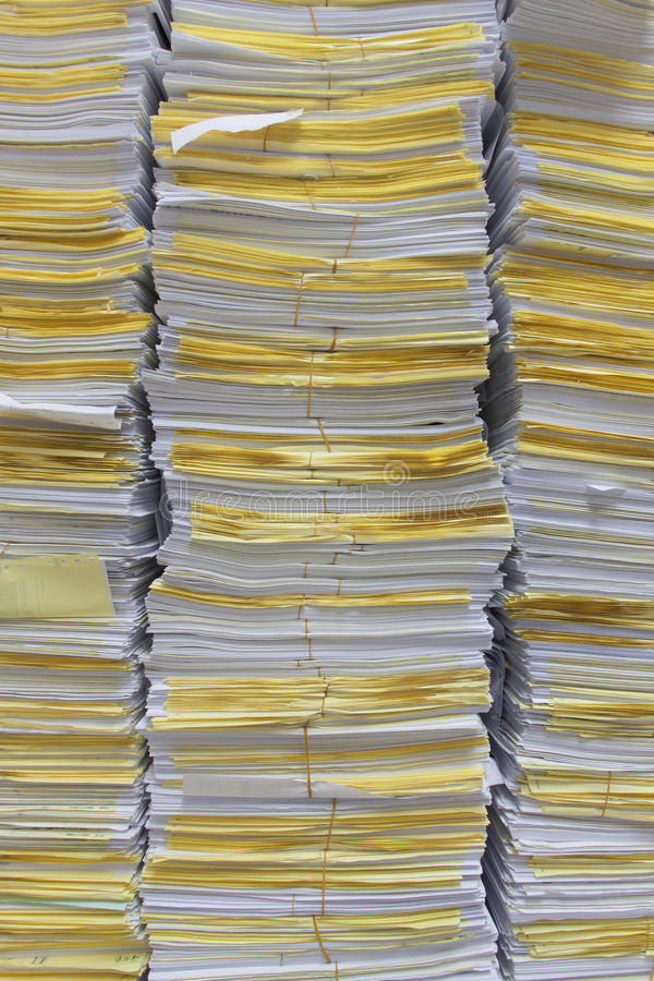 Download Stack Of Documents For Background And Texture. Stock Image - Image: 83724951