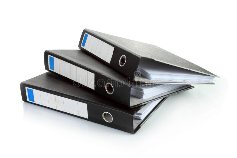 Stack Of Documents Binders Royalty Free Stock Photo