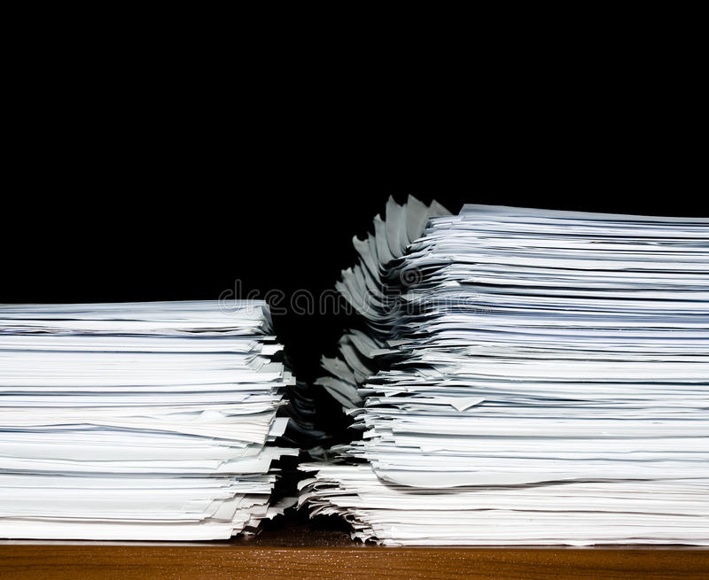Download Stack Of Documents Or Files, Overload Of Paperwork Royalty Free Stock Photos - Image: 23421438