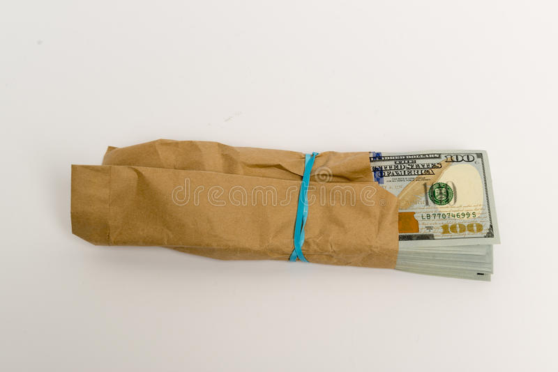 Download Stack Of Dollar Banknotes And Brown Envelope Stock Photo - Image: 83722605