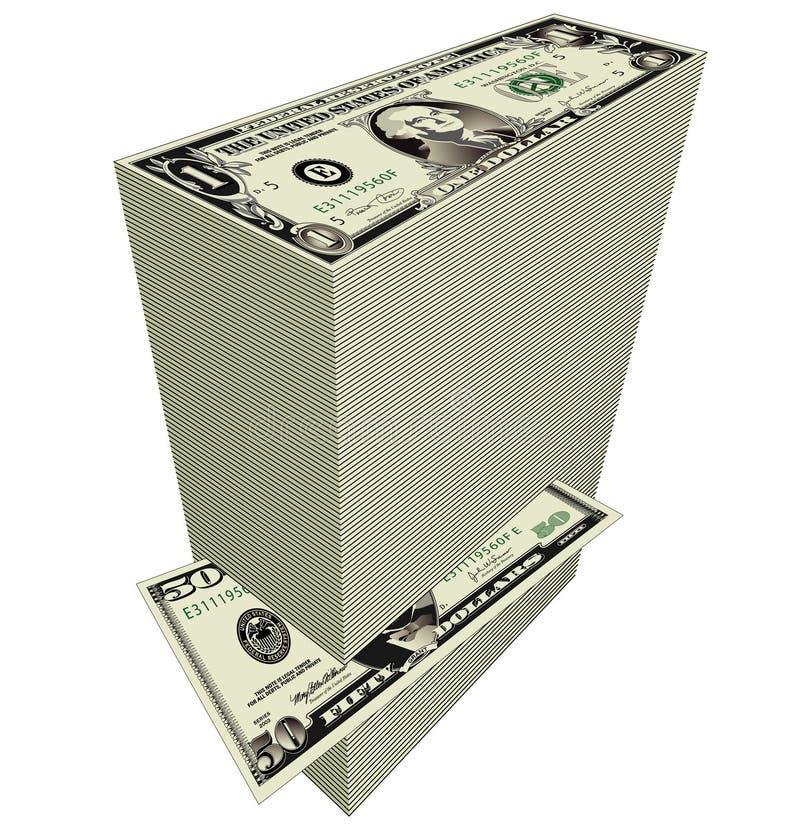 Stack of dollar bills vector illustration