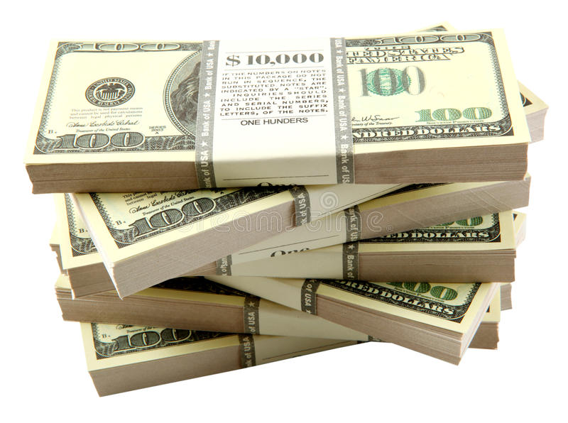 Download Stack of dollars stock photo. Image of large, business - 10251566