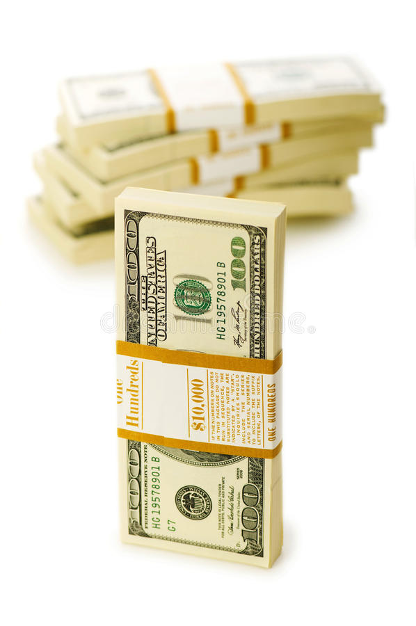 Download Stack of dollars isolated stock photo. Image of money - 12578088