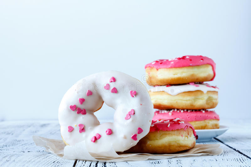 Stack of donuts royalty free stock image
