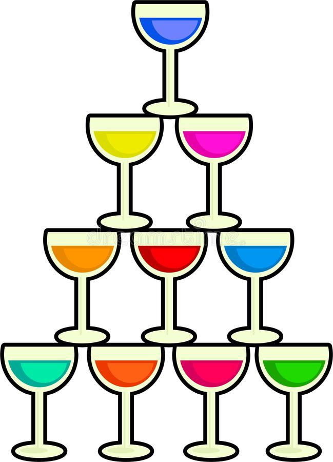 Download Stack of Drinks stock illustration. Image of graphic - 19362679