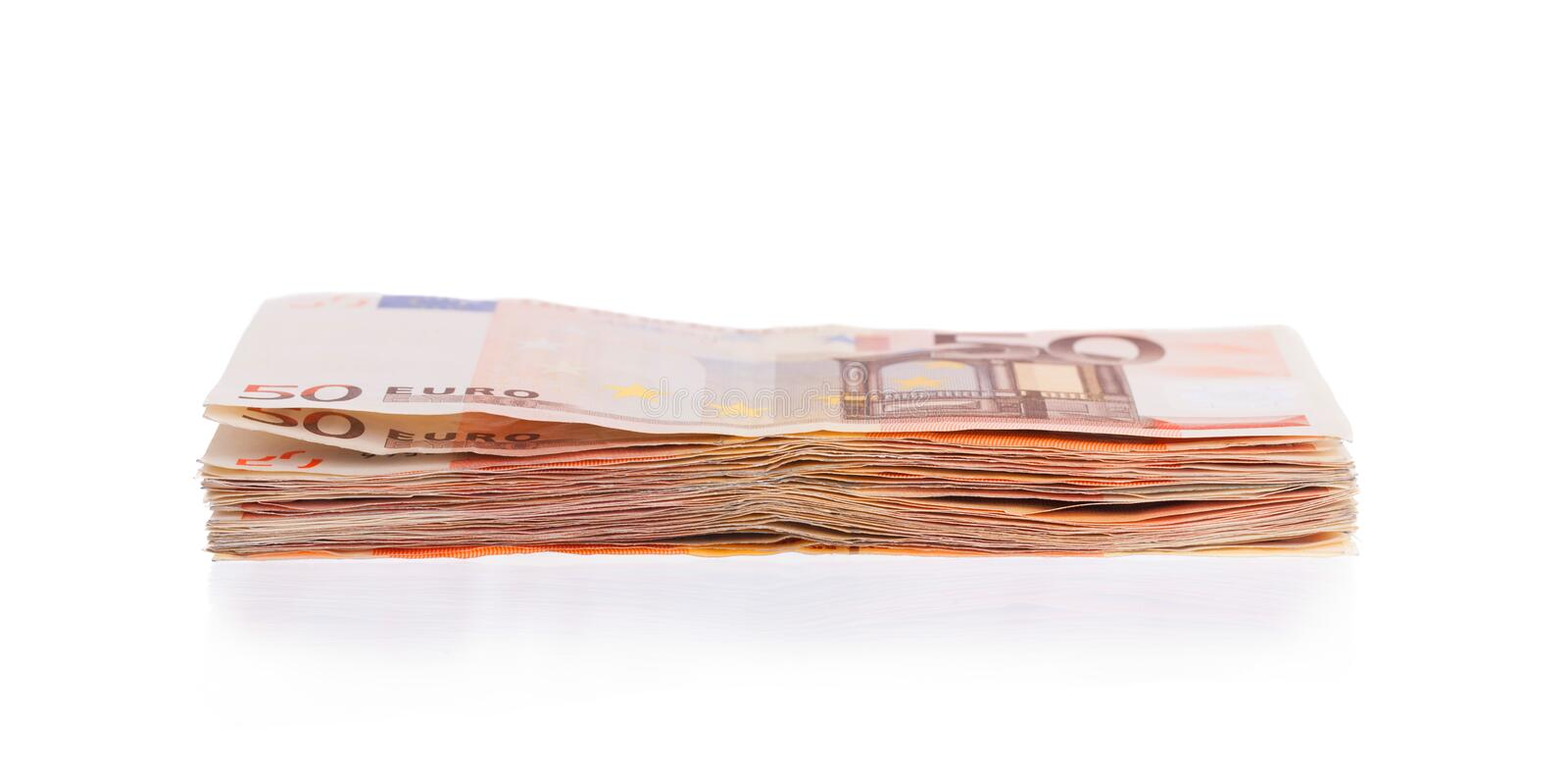 Download Stack of 50 euro bills stock photo. Image of euro, fifty - 39398130