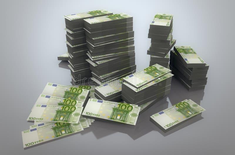 Download Stack of Euros stock illustration. Image of euro, heap - 27963591