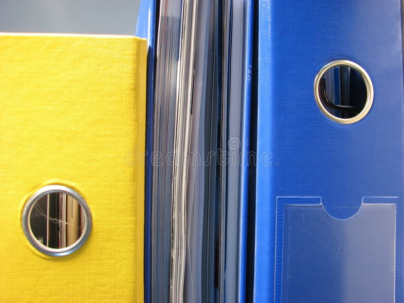 Stack files stock image