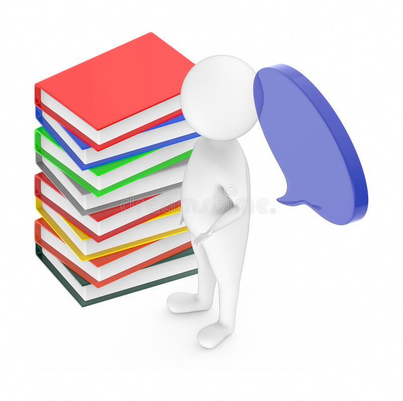 Stack of files. 3d rendering royalty free illustration