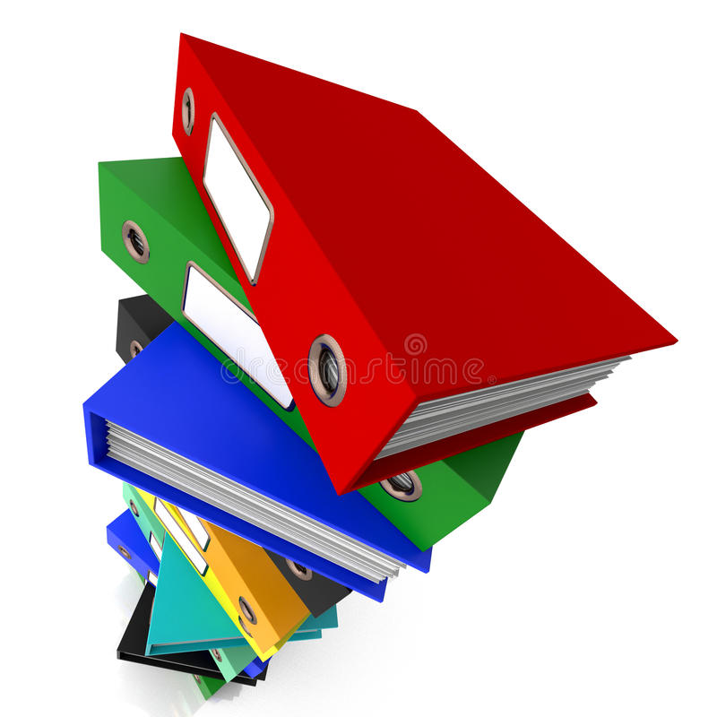 Download Stack Of Files For Getting Organized Stock Illustration - Image: 26476214