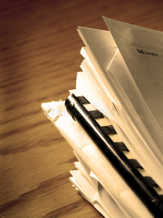 Stack of Files and Papers stock photography