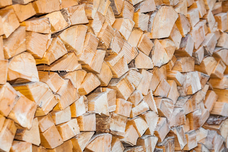 Stack firewood royalty free stock photography