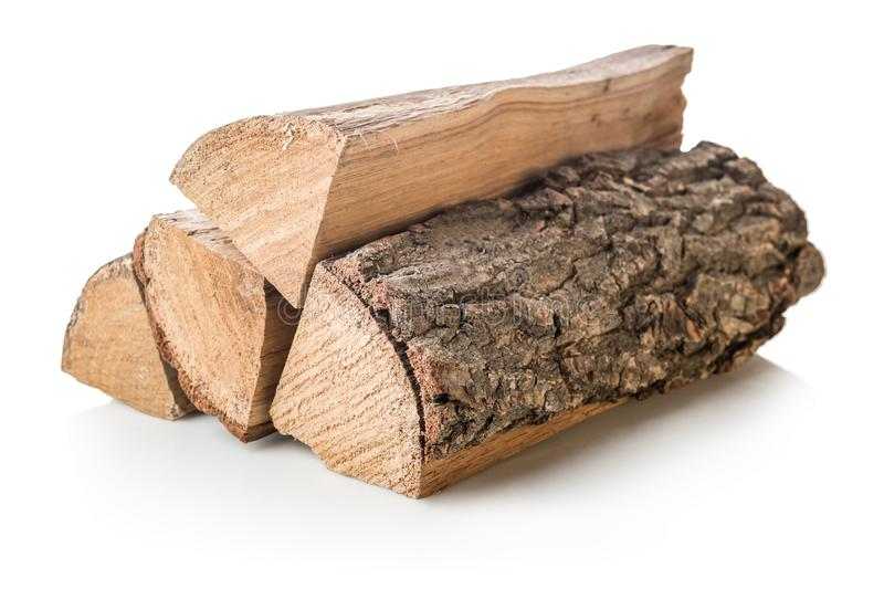 Stack of firewoods stock photo