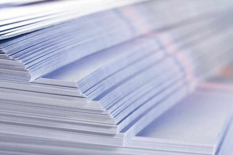 Stack of flyers stock photography