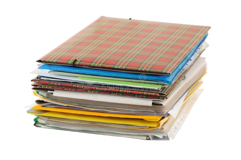Stack of folders stock photos