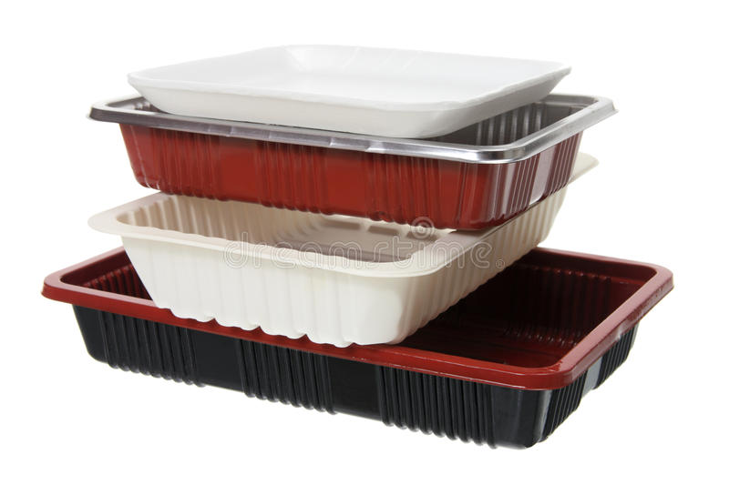 Stack of Food Trays royalty free stock photos