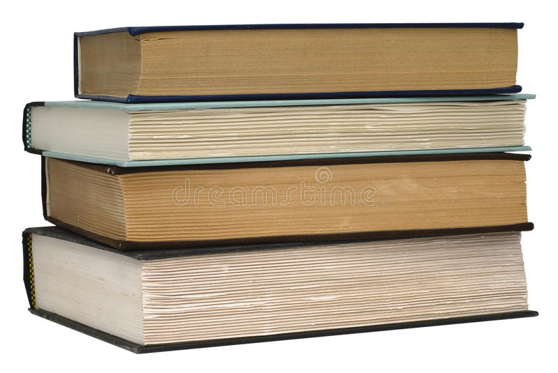 Stack Of Four Old Books Stock Photos