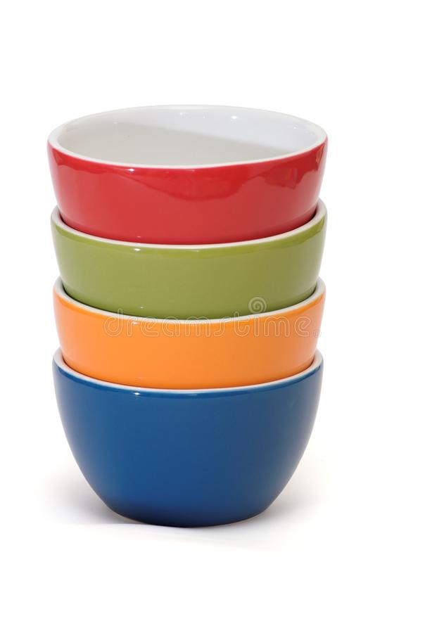 Download Stack Of Four Porcelain Bowls Isolated Stock Image - Image of plate, colorful: 24217615