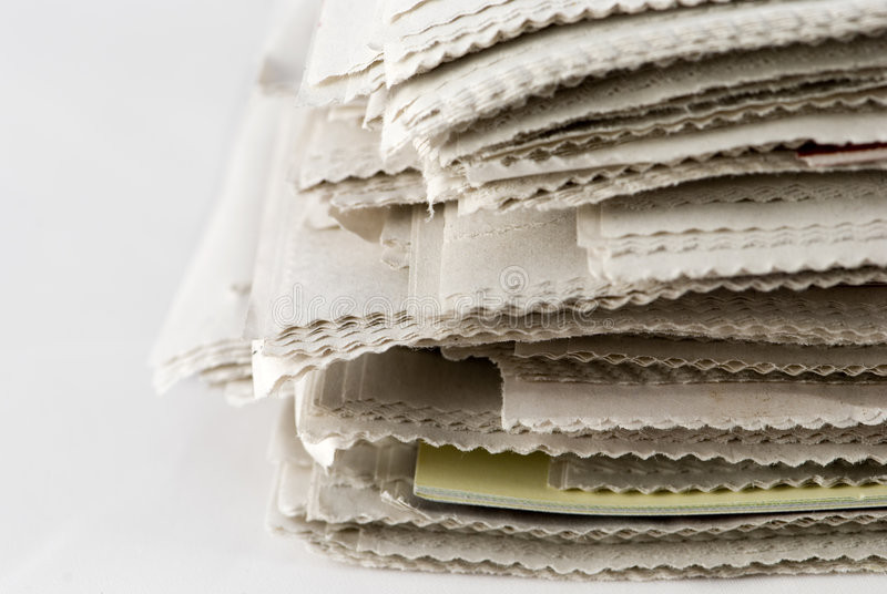 stack gazetowa obraz royalty free