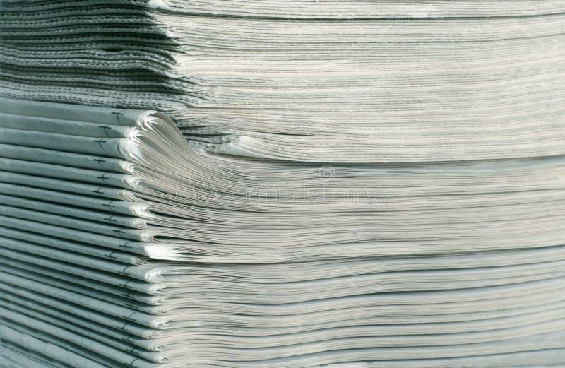 stack gazety obrazy stock