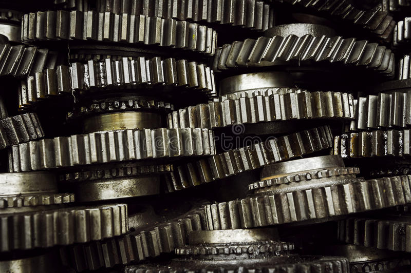 Stack of gearwheel stock images